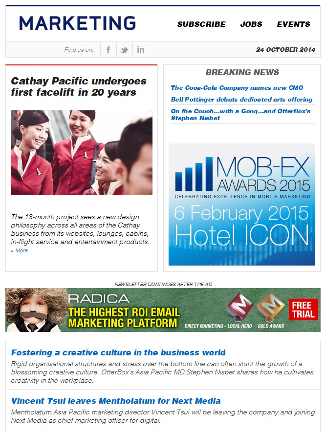 Marketing Daily Hong Kong 6 October 2011