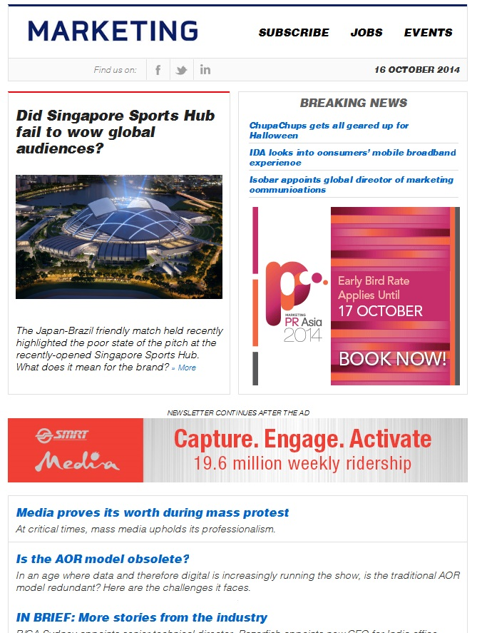 Marketing Daily Singapore October 2011